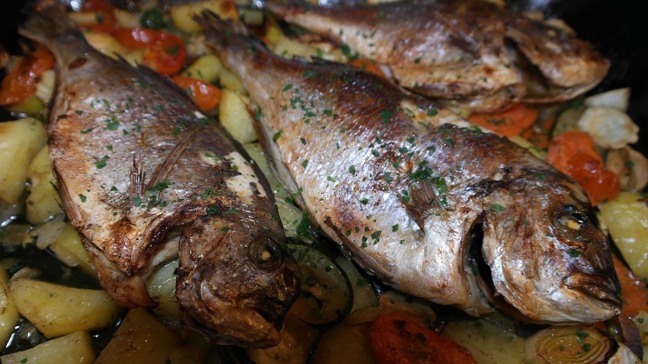 Orata Al Forno Con Verdure Aquolina By Finpesca Ricette Di Pesce